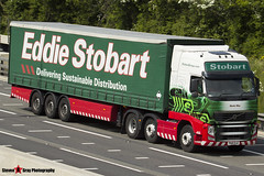 Volvo FH 6x2 Tractor with 3 Axle Curtainside Trailer - PX10 DJZ - H4502 - Neola May - Eddie Stobart - M1 J10 Luton - Steven Gray - IMG_4464
