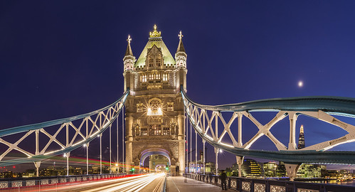 20140520_F0001: Classic Tower bridge view in a cosmic scene