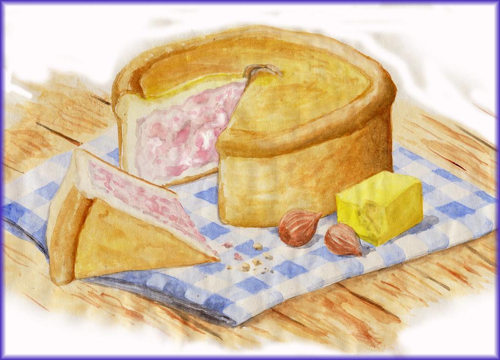 Luxury pork pie with orchard jelly