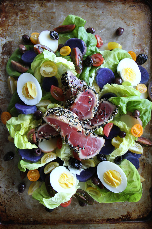 Nicoise Salad with Red Pepper Vinaigrette