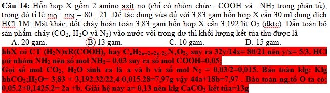 Hỗn hợp X gồm 2 amino axit no (chỉ có nhóm chức –COOH và –NH2 trong phân tử)