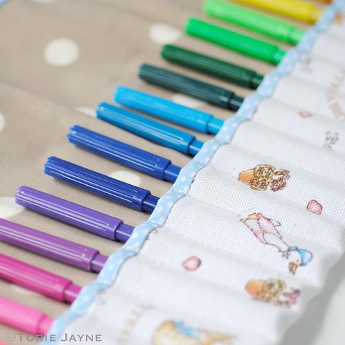Roll up pen case tutorial