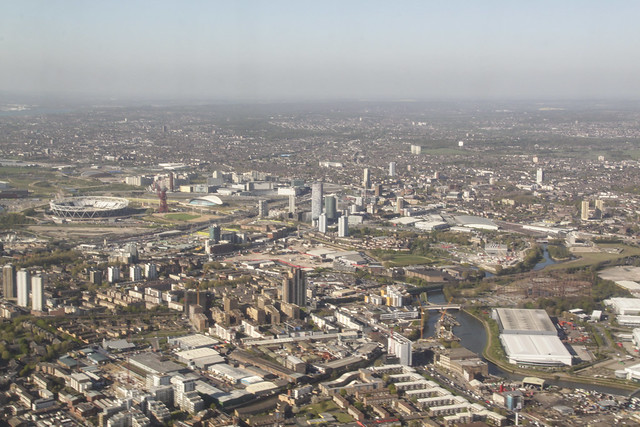 East London from the sky