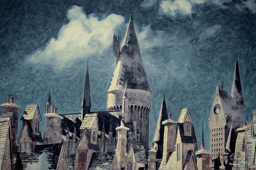 Image of the rooftops at Harry Potter Land at Universal Studios Orlando