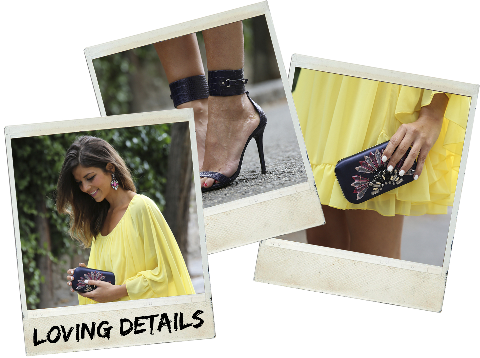 trendy_taste-look-outfit-street_style-ootd-blogger-blog-fashion_spain-moda_españa-yellow_dress-vestido_amarillo-boda-wedding-evento-clutch_pedreria-mas34-sandalias_azules-blue_sandals-polaroid