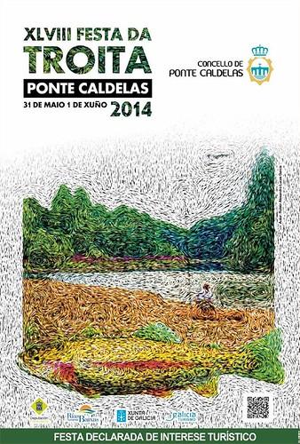 Pontecaldelas 2014 - XLVIII Festa da Troita - cartel
