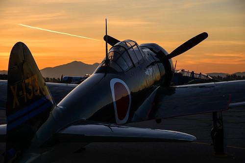california sunrise airport aircraft airshow socal zero mitsubishi chino 2014 planesoffame a6m