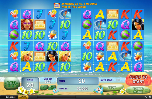 Bikini Beach 20 Lines Slot Machine - Try for Free Online