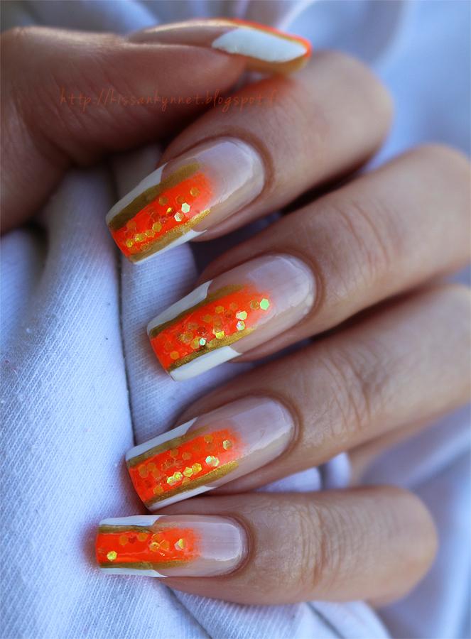 Orange_Glitter_French_manicure_2