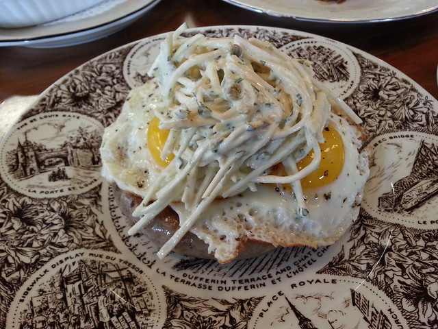 Zampini with fried egg and celeriac remoulade