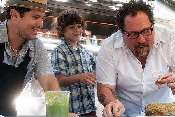 Jon Favreau (right), John Leguizamo and Emjay Anthony offer savory treats in CHEF.