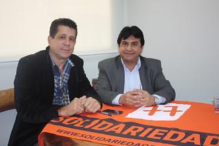 Nequinho Desanti, presidente da Câmara de Santana do Parnaíba, tem reunião com direção estadual do Solidariedade