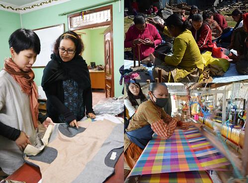 每年都會特地走訪各地的公平貿易組織,實際了解並互相交流理念與作法。繭裹子提供