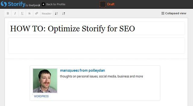 Optimize Storify SEO