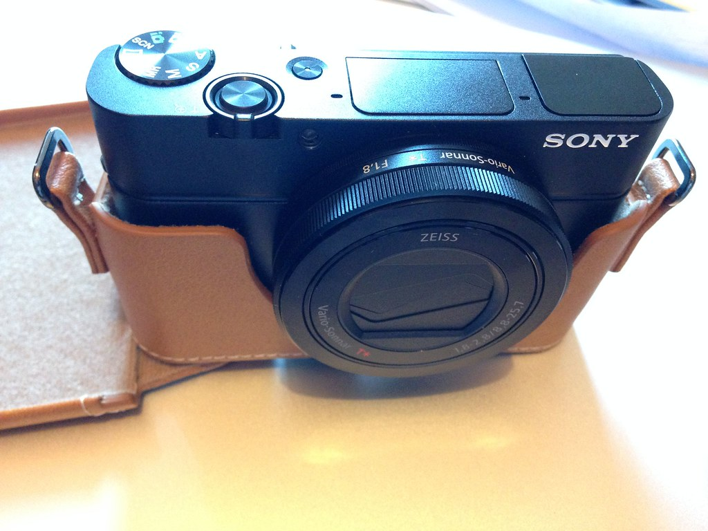 RX100 Leather Case Open