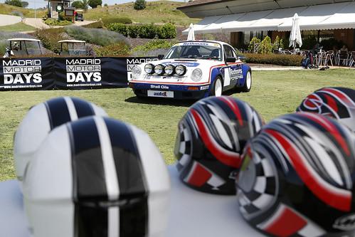 Para ambientar el acontecimiento se exhibieron autenticas joyas como este Porsche que pilotó el campeón mundial, Henry Toivonen, en 1984