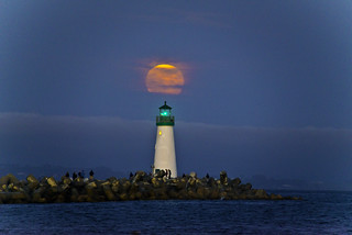 Moonrise Walton Lighthouse