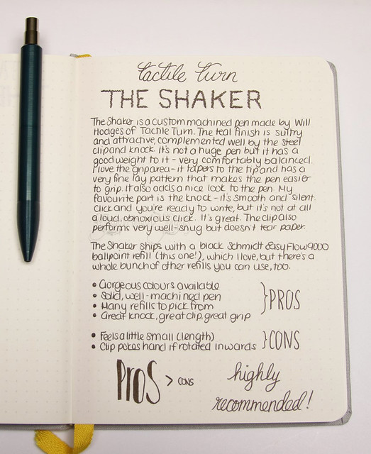 Review: @TactileTurn The Shaker - Teal