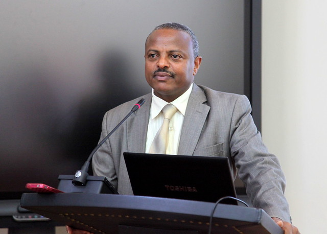 H.E. Mr. Sileshi Getahun, State Minister Natural Resource, Ministry of Agriculture, Ethiopia makes speech