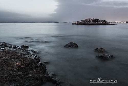 longexposure nightphotography sea seascape clouds rocks hellas athens kostaspetropoulos