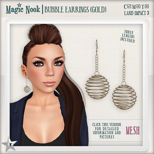 [MAGIC NOOK] Bubble Earrings (Gold) MESH