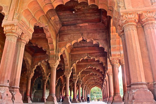 Arches in the interior of The Red Fort