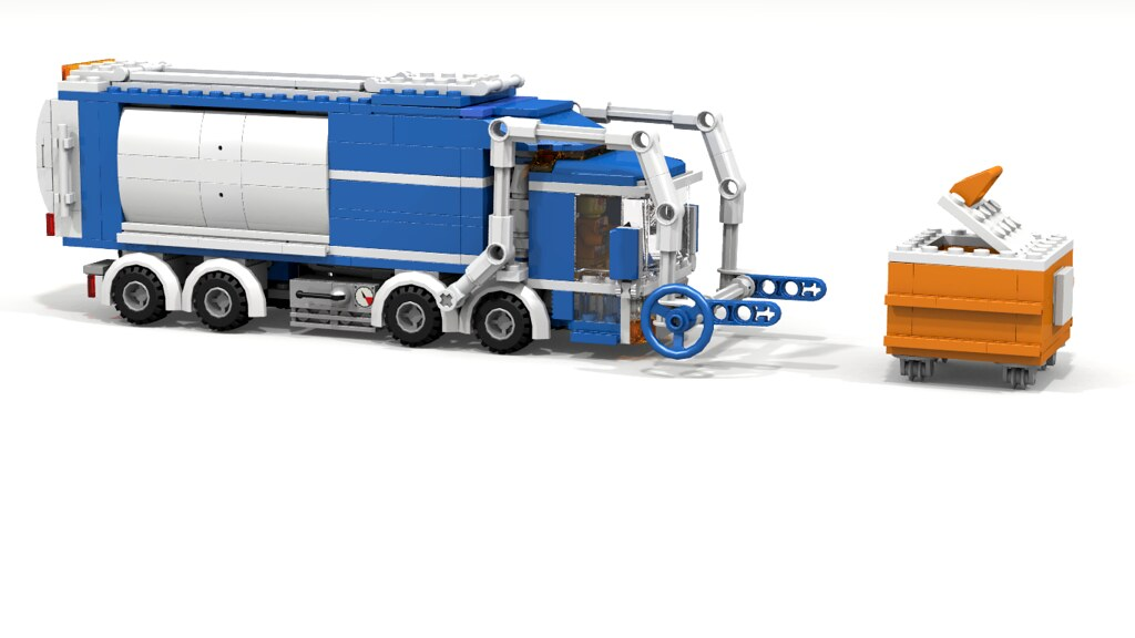 Moc City Front Loader Garbage Truck 6 Stud Lego Town