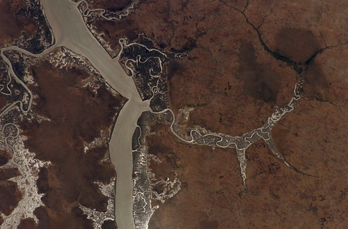 estuary nasa ceo gambia internationalspacestation gambiariver crewearthobservations stationresearch