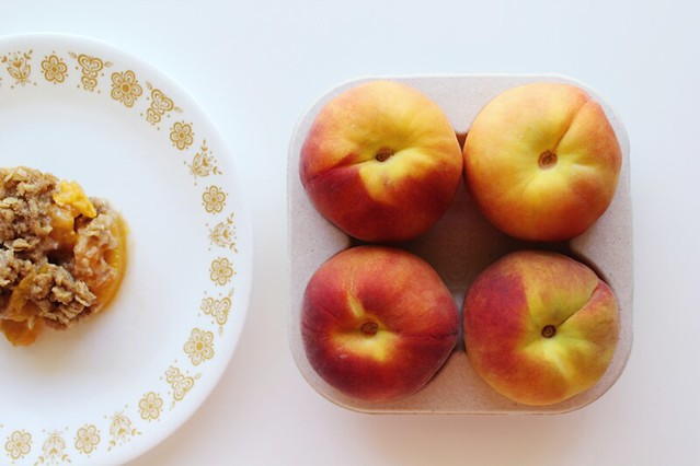 {recipe} fresh peach crisp | peaches