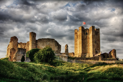 sunset summer england castle clouds hdr southyorkshire conisborough hdrefexpro