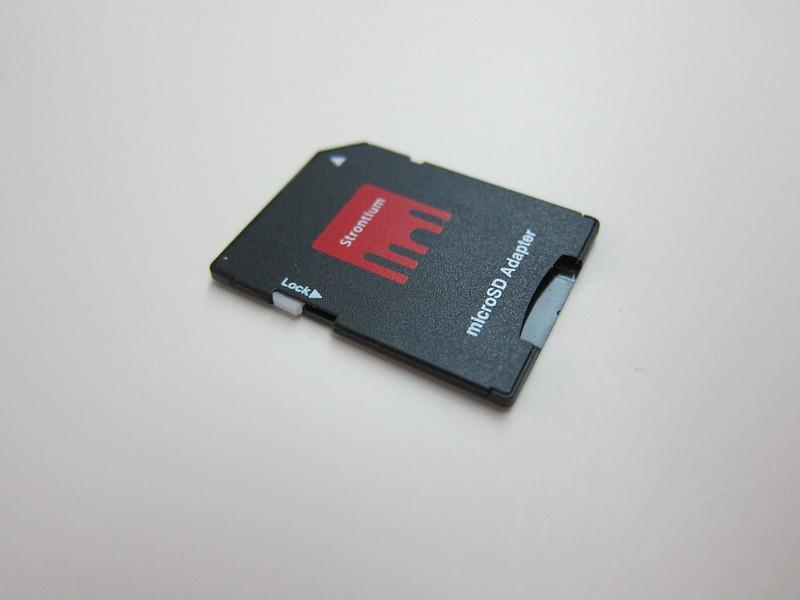 Strontium Nitro Plus MicroSDHC UHS-1 Card - MicroSD to SD Card Adapter