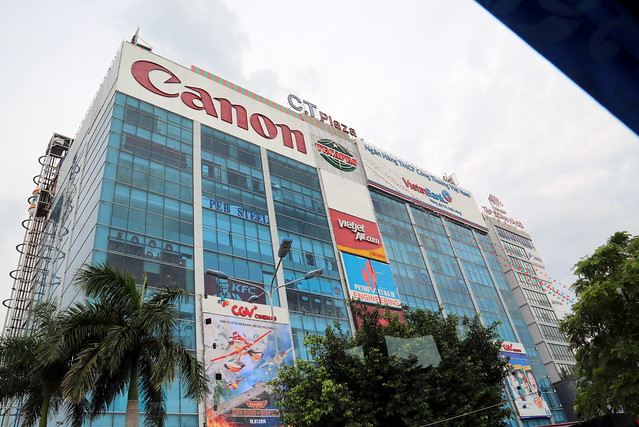 The VietJet office is in this building, so is Canon!