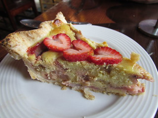 Strawberry Rhubarb Custard Tart from Chaco Canyon
