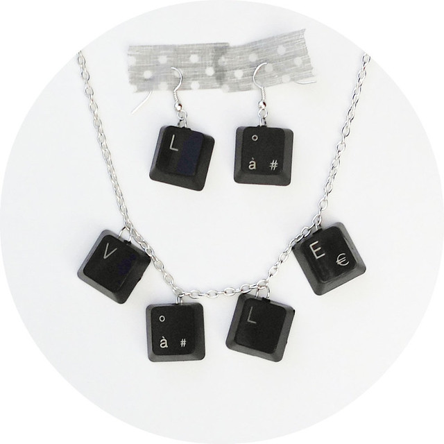 10 Computer Keyboard Earrings