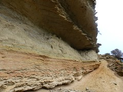 Le sentier dans Cala di Labra sous la conque
