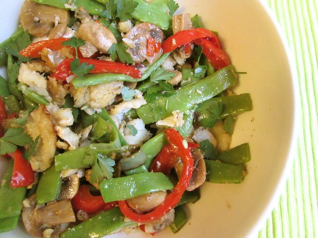 Salteado de bacalhau com feijão verde
