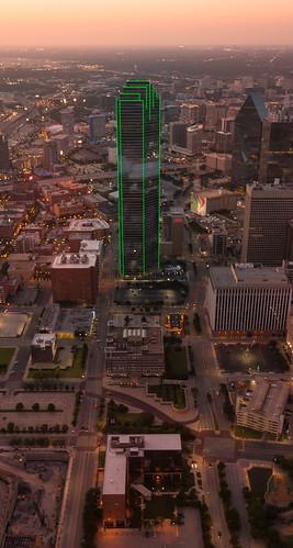 sunset usa skyscraper dallas cityscape texas bankofamerica