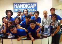 Korea Nazarene University visits Handicap International