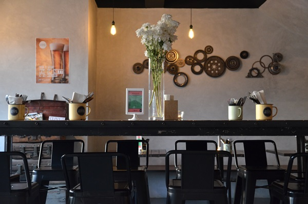 High Stools & Communal Dining Table