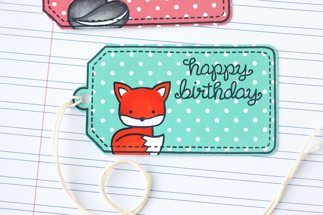 reverse paper-pieced tags