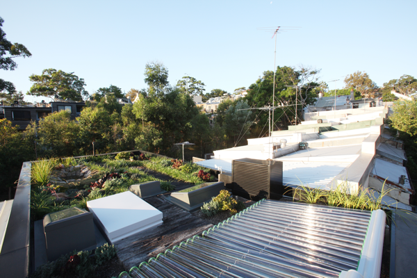 Sika Sarnafil G410-15L Felt membrane was used on the Forest Lodge Eco House roof garden