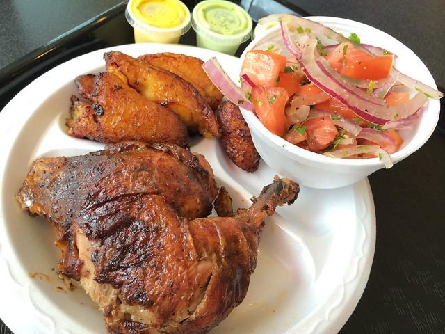 1/4 chicken (dark meat) plate - El Pollon