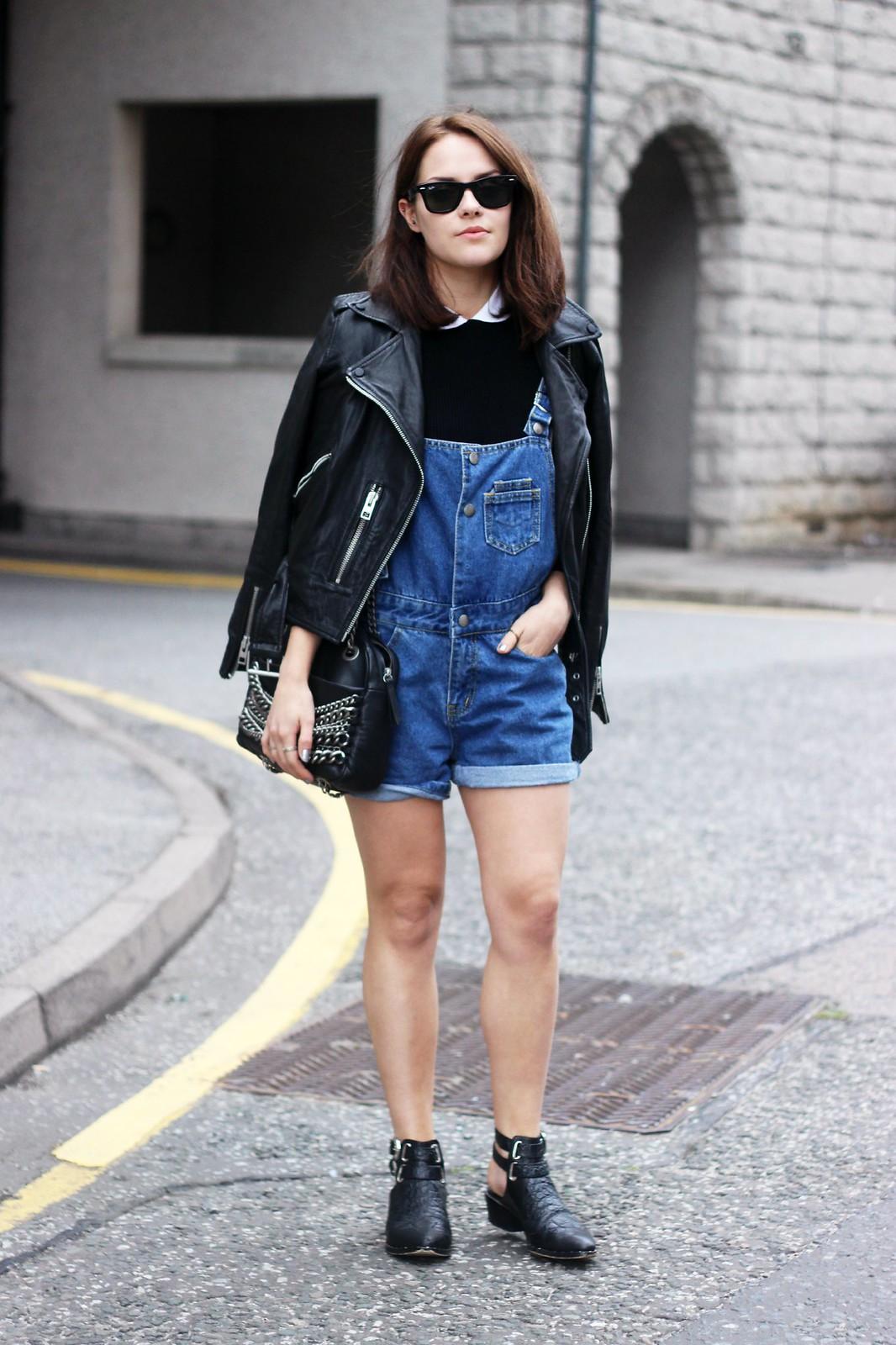 Vintage blue shorts dungarees 1