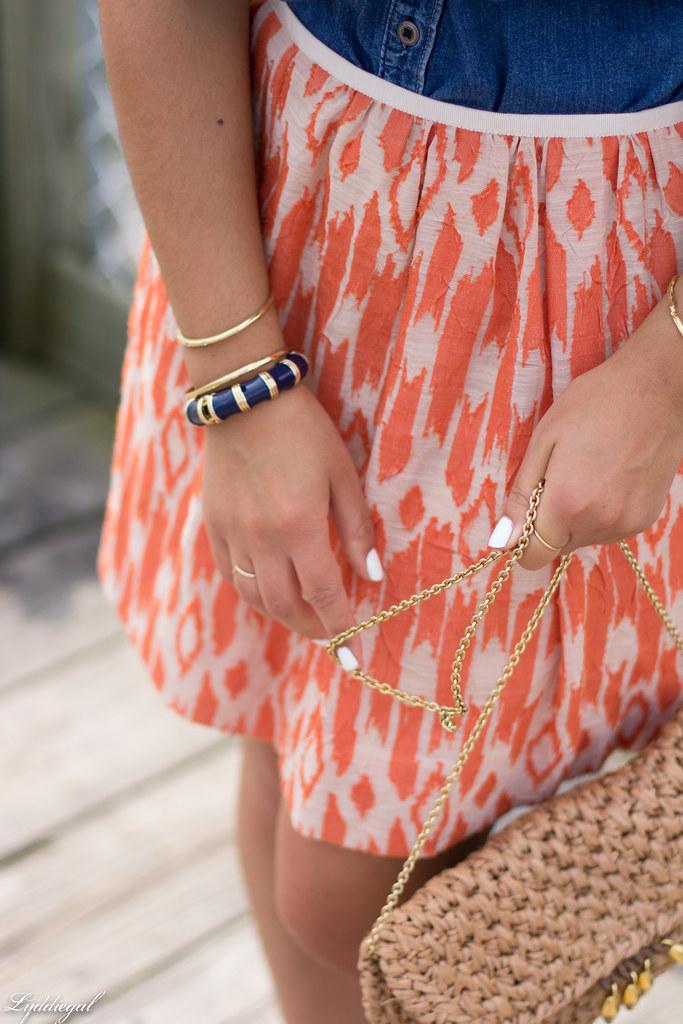 chambray shirt, orange ikat skirt-8.jpg