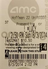 Lucy ticketstub
