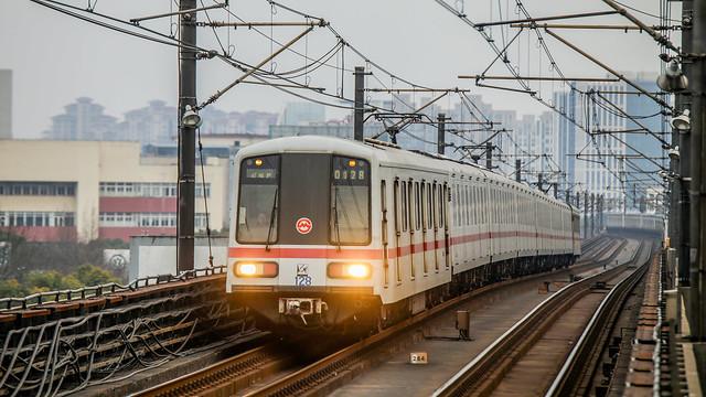 Shanghai Metro AC01b EMU @ Gongfu Xincun Station, Line 1