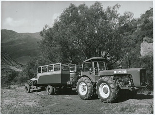 Mr Keith Grants tractor train which operates from Arrowtown to Macetown, Otago