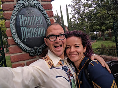 Alice and Me, Haunted Mansion, Disneyland, Anaheim, California, USA