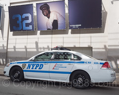 NYPD Precinct 42 Police Patrol Car, 2017 Yankees Home Opener at Yankee Stadium, The Bronx, New York City