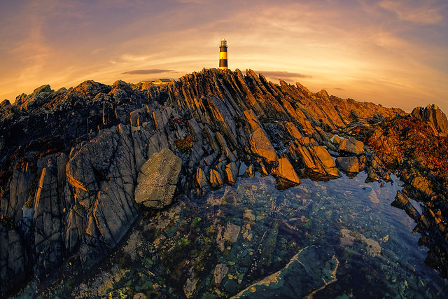 Lighthouse and rock pool